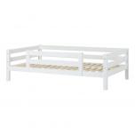 Hoppekids PREMIUM voodi 1/2 turvapiirdega 120x200cm valge