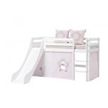 Hoppekids BASIC poolkõrge voodi redel+liumägi, jagatav 70x190cm valge