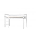 Hoppekids BASIC poolkõrge voodi redeliga, mitte jagatav 70x160cm valge