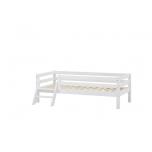 Hoppekids BASIC voodi turvapiirde ja redeliga 70x160cm valge
