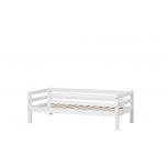 Hoppekids BASIC voodi 3/4 turvapiirdega 70x160cm valge