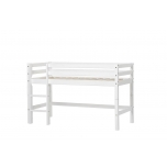 Hoppekids BASIC poolkõrge voodi redeliga, jagatav 70x190cm valge