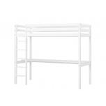 Hoppekids BASIC kõrge voodi redel+laud, jagatav 90x200cm valge