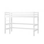 Hoppekids BASIC keskmise kõrgusega voodi redeliga, jagatav 90x200cm valge