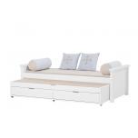 Hoppekids voodi MAJA DELUXE 90x200cm, keskmine-madal otsad valge