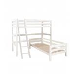 Hoppekids PREMIUM nurgaga kõrge voodi+kaldredel 90x200cm valge