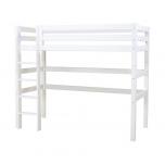 Hoppekids PREMIUM kõrge voodi püstise redeliga 90x200cm valge, paindlik voodipõhi