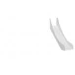 Hoppekids liumägi PREMIUM poolkõrgele voodile valge
