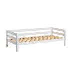 Hoppekids PREMIUM tagapiirdega voodi paindliku voodipõhjaga 90x200cm valge