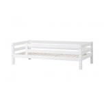 Hoppekids PREMIUM voodi 3/4 turvapiirdega paindliku voodipõhjaga 90x200cm valge