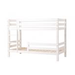 Hoppekids PREMIUM narivoodi püstise redeli ja 1/2 turvapiirdega paindlik voodipõhi 90x200cm valge