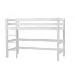Hoppekids PREMIUM keskmise kõrgusega voodi püstise redeliga 70x160cm valge