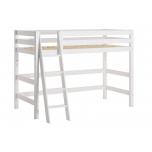Hoppekids PREMIUM poolkõrgest kõrgem voodi kaldredeliga paindlik voodipõhi 90x200cm valge