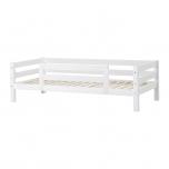 Hoppekids PREMIUM voodi 1/2 turvapiirdega paindliku voodipõhjaga 90x200cm valge