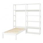 Hoppekids STOREY riiul 2 sektsiooni 8 riiulit+voodi 90x200cm