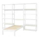 Hoppekids STOREY riiul 3 sektsiooni 14 riiulit+voodi 70x160cm