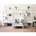 Hoppekids STOREY riiul 3 sektsiooni 14 riiulit+voodi 90x200cm