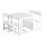Hoppekids laua-tooli komplekt Mathilde valge
