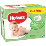 Huggies Beebisalvrätt Natural Care 3x56tk