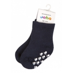 Joha meriinovillane sokk stopperiga denim melange