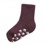 Joha meriinovillane sokk stopperiga aubergine melange