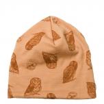 Joha müts meriinovill-puuvill Owl, oranž
