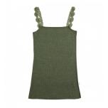 Joha paeltega alussärk Kate vill-siid, roheline
