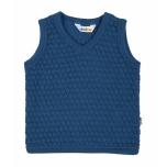 Joha meriinovillane kootud vest, sinine