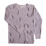 Joha pluus meriinovill-bambus Penguins, lavendel