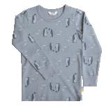 Joha pluus meriinovill-bambus Penguins, sinine