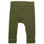 Joha kootud püksid meriinovill, roheline