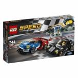 LEGO Speed Champions 2016 Ford GT ja 1966 Ford GT40 366 elementi UUS!