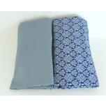 Makayla Design kummiga aluslina vankrisse sinine-sinine ornament 2tk