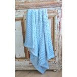 Makaya Design Beebitekk Minky Dimple Dusty Blue 75 x 90 cm