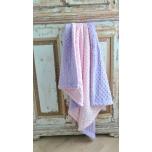 d26a5b12c2c Makayla Design Beebitekk Minky Dimple Pink Lavender 75 x 90 cm