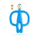 Matchstick Monkey Light Blue Monkey Teething Toy närimislelu