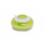 Childhome sooja hoidev taldrik ja kahvel, lusikas-roheline ja valge