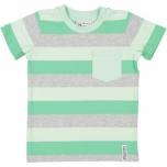 Geggamoja triibuline  T-särk, roheline-hall