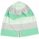 Geggamoja triibuline müts, roheline-hall