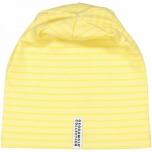 Geggamoja triibuline müts, kollane-valge