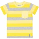Geggamoja triibuline T-särk, kollane-hall
