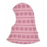 Joha tuukrimüts kahekordne meriinovillane, roosa snowflake
