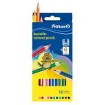 Pelikan värvipliiats 12 värvi kuusnurkne