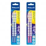 Pelikan harilik pliiats  B 2tk jäme sinine või roosa