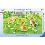 Ravensburger plaatpusle 15 tk Loomalapsed 3+