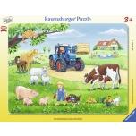 Ravensburger plaatpusle 10 tk Suvi farmis 3+