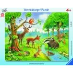 Ravensburger plaatpusle 30 tk Metsloomad 4+