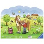 Ravensburger siluett plaatpusle 25 tk Hobune 3+