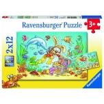 Ravensburger pusle 2x12 tk Veealune maailm 3+