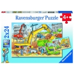 Ravensburger pusle 2x24 tk Ehitus 4+